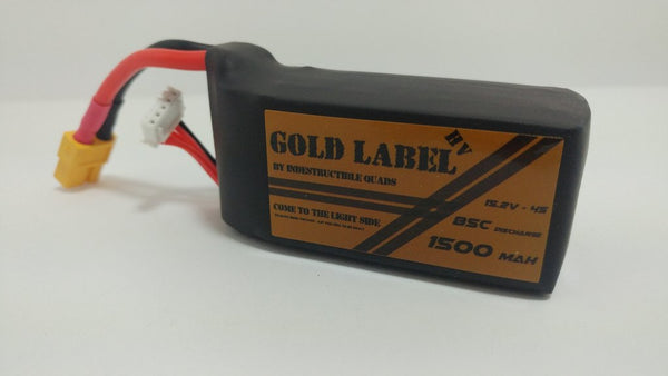 IQ Gold Label 4S HV 1500mAh / True 85C LiPo Battery - rc-n-go