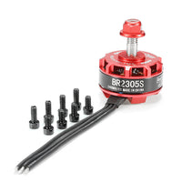 Racerstar BR2305S / 2400KV 2-5S Brushless Motor (Red) | RC-N-Go