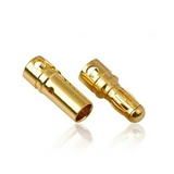 Banana Plug Bullet Connectors (2 Pairs / Male & Female / 3.5mm or 4mm)