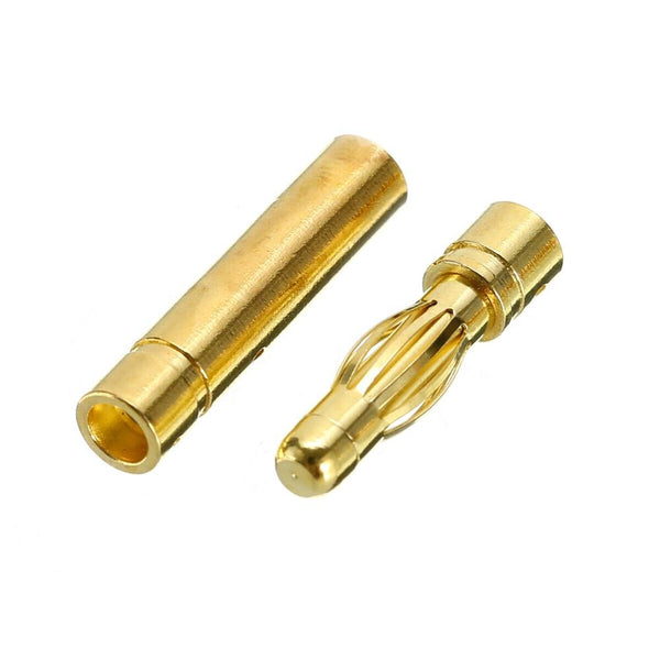 Banana Plug Bullet Connectors (2 Pairs / Male & Female / 3.5mm or 4mm) | RC-N-Go