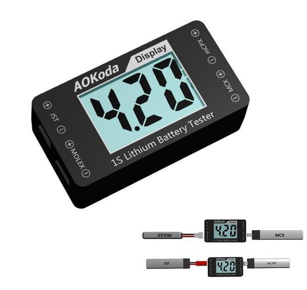 1S LiPo Battery Tester/Checker | RC-N-Go