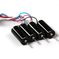 NewBeeDrone BDR 6mm 17,400 KV Brushed Motor Set (4pc / Black)