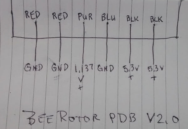 BeeRotor PDB (3A Step-Down / 5.3V Output)