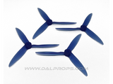 "Dalprops T5051C 5"" Cyclone Tri-Blade Propellers Translucent Blue"
