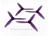 "Dalprops T5051C 5"" Cyclone Tri-Blade Propellers Translucent Purple"