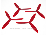 Dalprops TJ6045 6 inch Tri-Blade Propellers Red