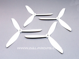 Dalprops TJ6045 6 inch Tri-Blade Propellers White