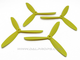 Dalprops TJ6045 6 inch Tri-Blade Propellers Yellow