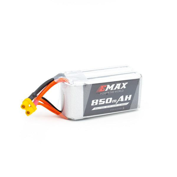Emax 4S / 850mAh / 80C / 14.8V LiPo Battery with XT30 Connector | RC-N-Go