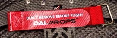 Don't Remove Before Flight™ Dalprops Battery Strap
