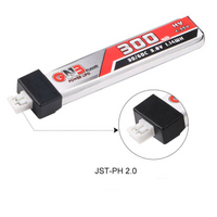 zz- GNB 1S HV LiPo Battery 300mAh / 30C / 3.8V / JST-PH 2.0 | RC-N-Go