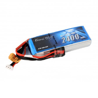 Gens Ace 2S / 2400mAh / 7.4V LiPo TX Battery | RC-N-Go