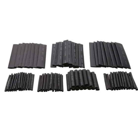 Heat Shrink Kit (127pcs / Multiple Sizes / Black)