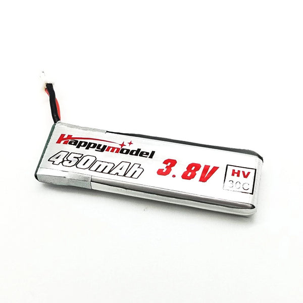 HappyModel HV 1S LiPo Battery 450mAh / 30C / 3.8V / JST-PH2 | RC-N-Go