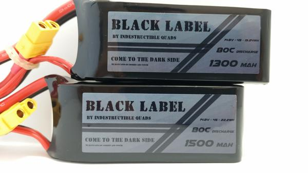 IQ Black Label 4S 1300mAh or 1500mAh (v2) / True 80C LiPo Battery