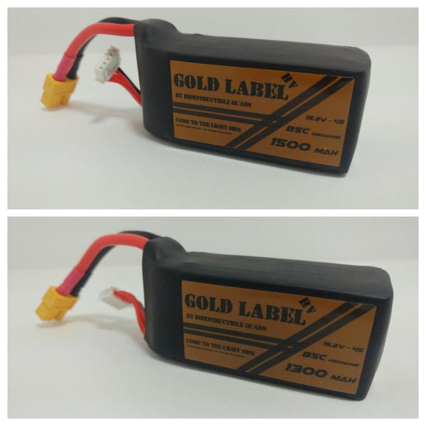IQ Gold Label 4S HV 1300mAh or 1500mAh / True 85C LiPo Battery