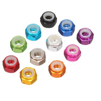M3 Aluminum Lock Nuts (4pcs / Unflanged / Multiple Colors) | RC-N-Go