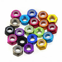 M5 Aluminum Lock Nuts (4pcs / Unflanged / Multiple Colors) | RC-N-Go