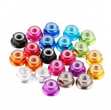 M5 Aluminum Lock Nuts (4pcs / Multiple Colors / Optional Flange) | RC-N-Go