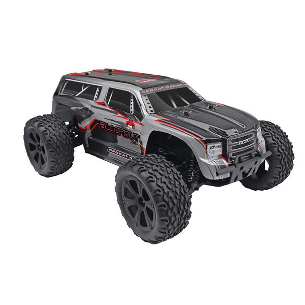 RedCat Blackout XTE 1/10 4WD Brushed Electric Monster SUV (Silver) | RC-N-Go