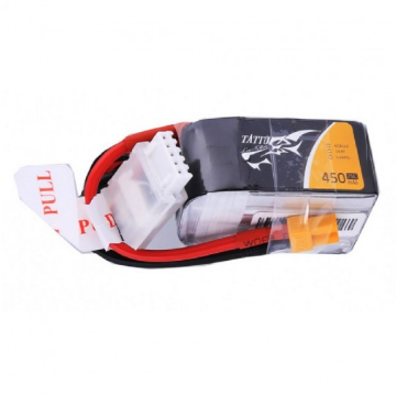 Tattu 4S / 450mAh / 75C / 14.8V LiPo Battery w/ XT30 Plug (Short or Long) | RC-N-Go