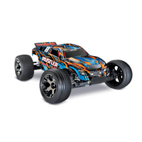Traxxas 1/10 Rustler VXL 2WD Electric RC Truck (Brushless / ARR / Orange) | RC-N-Go