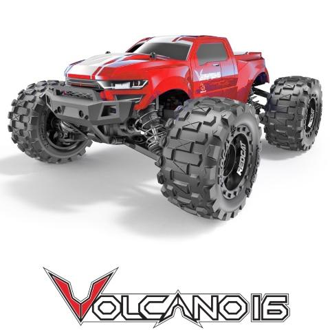 Redcat 1/16 Volcano-16 Mini 4WD Monster Truck (Brushed / RTR) | RC-N-Go