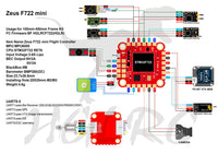 HGLRC Zeus F722 Mini Flight Controller (20x20 / 2-6S) | RC-N-Go