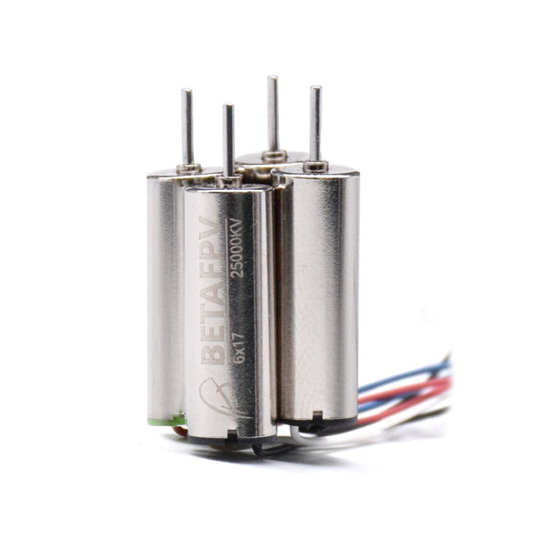 BetaFPV 6x17mm / 25000kv Insane Brushed Motor Set (2 CW, 2 CCW) | RC-N-Go