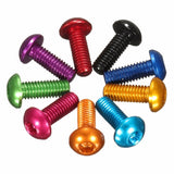 M3 * 6mm Round Head Aluminum Screws (Hex Socket) (4pcs) (Purple, Red, Green, Purple, Gold)
