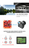 Foxeer Toothless 2 Micro FPV Camera w/ OSD (Starlight Lens / CMOS / Black)