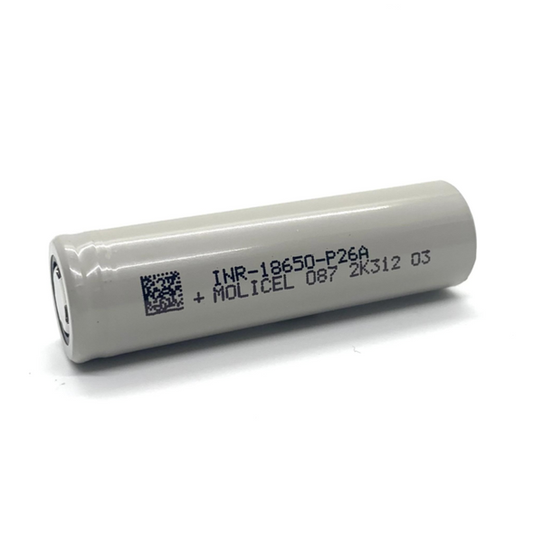 Molicel P26A 18650 / 2600mAh / 35A Li-Ion Battery