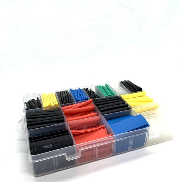 Heat Shrink Kit (580pcs / Multiple Sizes / Colors) | RC-N-Go