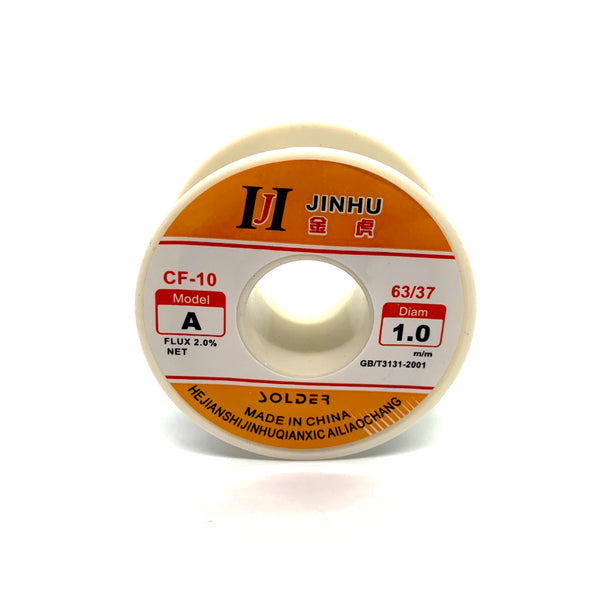 Electric Solder Wire 63/37 Rosin Core (1mm / 50g / Line Reel or Tube)