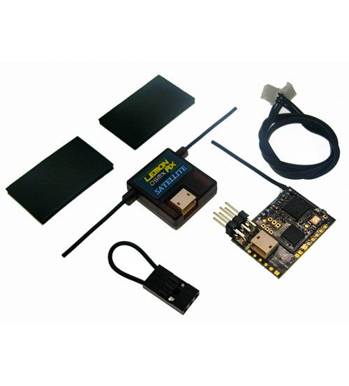 Lemon Rx DSMX Compatible 8-Channel PPM Radio Receiver + Satellite with Failsafe | RC-N-Go