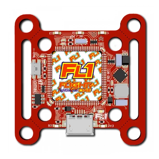 FlightOne Lightning H7 Flight Controller (30x30 & 20x20 / OSD / 7 Uarts / 3-6S)