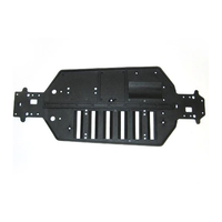 Redcat Main Chassis for Tornado, Volcano & More (Part#04001 / Black)