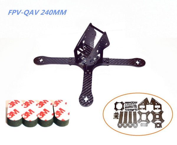 "QAV-X Carbon Fiber Frame Kit (5"" - 240mm) 