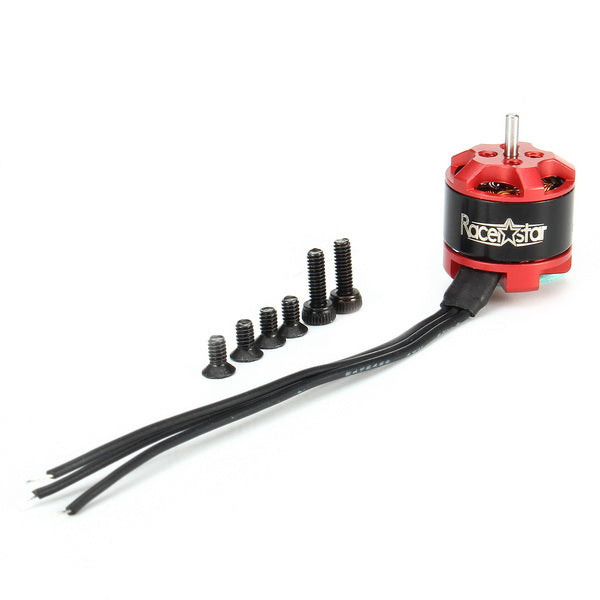 Racerstar BR1106 / 3800KV 1-3S Brushless Motor (Red) | RC-N-Go