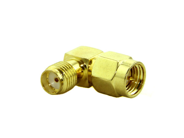 VTX/Antenna Extension Connector (RP-SMA and SMA / Angled 90-Degree)