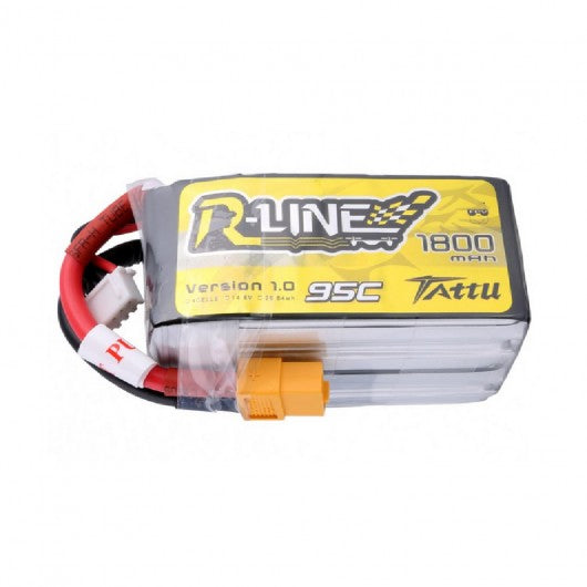 Tattu 4S / 1800mAh / 95C / 14.8V LiPo Battery w/ XT60 Plug | RC-N-Go