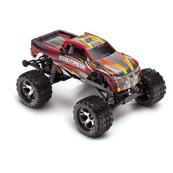 Traxxas 1/10 Stampede VXL 2WD Brushless with TSM (RTR / Red)