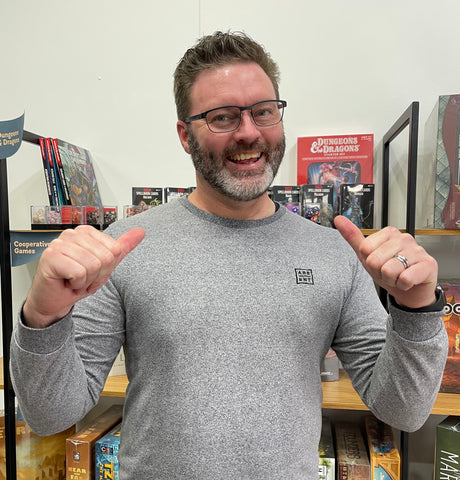 Who's got two thumbs and loves board games? This guy!