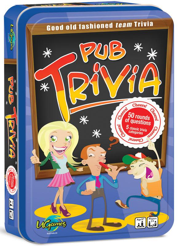 Pub Trivia - Tinned Travel Game-University Games-Game Kings
