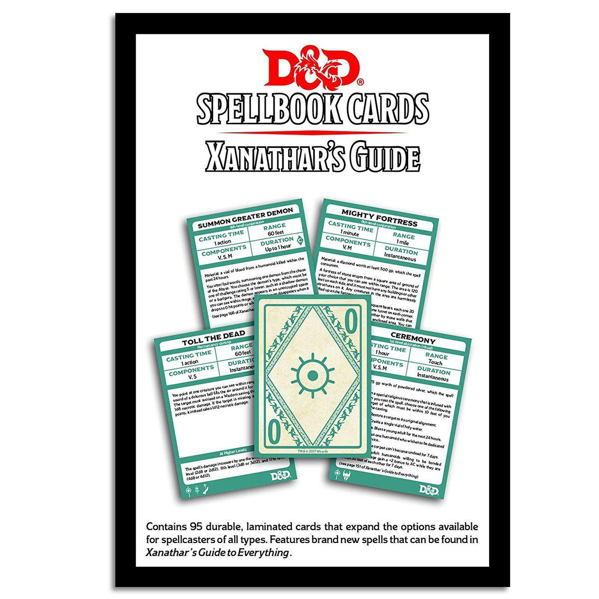 D&D: Spellbook Cards: Xanathars Deck (95 Cards)-Dungeons & Dragons-Game Kings