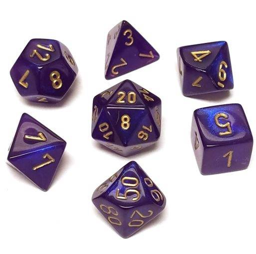 Chessex Dice - Borealis Royal Purple & Gold-Chessex-Game Kings