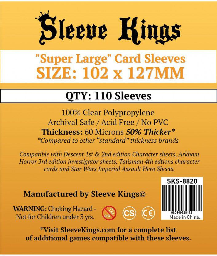 Card Sleeves - Super Large (102mm x 127mm)-Sleeve Kings-Game Kings