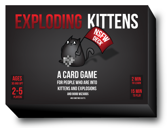 EXPLODING KITTENS NSFW Edition-Exploding Kittens-Game Kings