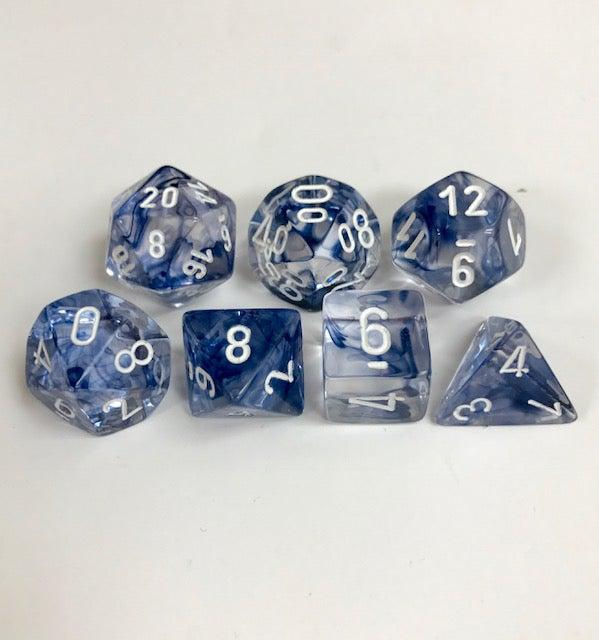 Chessex Dice - Nebula Black & White-Chessex-Game Kings
