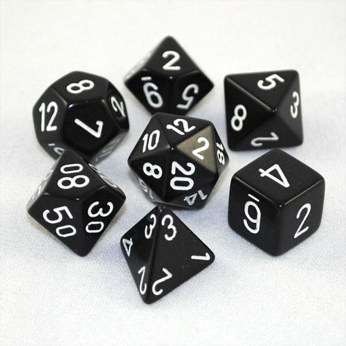 Chessex Dice - Opaque Black & White-Chessex-Game Kings